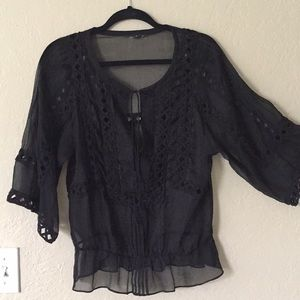 Willie Smith sheer black top